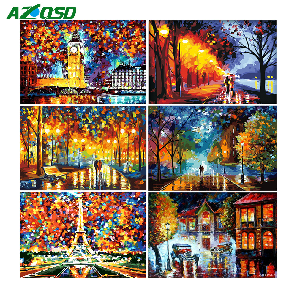 AZQSD Paint by Numbers Canvas Scenery Oil Painting Poster Colorful Posters and Prints Unfinished Craft Home Decoration DIY HobbyAZQSD Paint by Numbers Canvas Scenery Oil Painting Poster Colorful Posters and Prints Unfinished Craft Home Decoration DIY Hobby