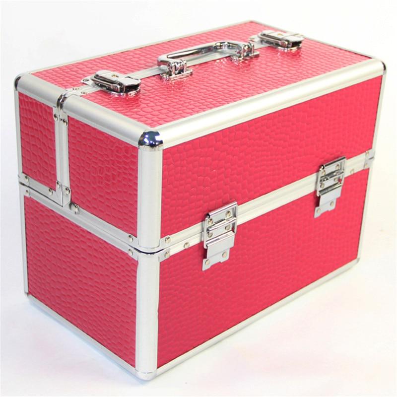 Durable Cosmetic Handbag Multi-layer Makeup Box Women Travel Cosmetic Case Make Up Organizer Cosmetics Suitcases For MakeupDurable Cosmetic Handbag Multi-layer Makeup Box Women Travel Cosmetic Case Make Up Organizer Cosmetics Suitcases For Makeup