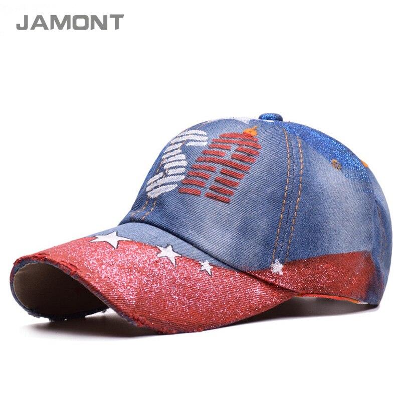 USA baseball cap boy mens sports pants gorras planas skateboard hat golf sun visor caps G115