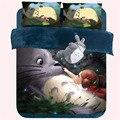 Cartoon 3D Bedding Set Bedspread Anime Totoro Minecraft Bed Sheet Boys Girls Duvet Cover funda nordic King Queen Size