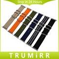 Correa de nylon + adaptadores para 38mm 42mm iwatch apple watch hombres mujeres pulsera de tela cinturón de lona correa de repuesto multi colores