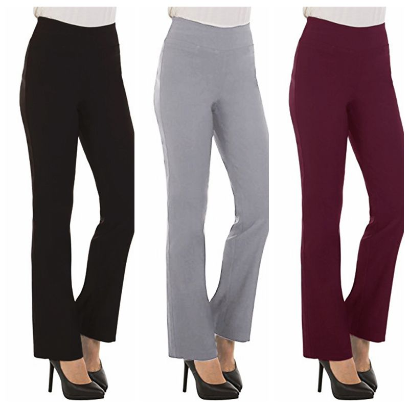 Wide     Leg     Pants   Work Office   Pants   High Waist Slacks Women Ladies Casual Formal Stretch Elegants Trousers Bottoms Long   Pants   S-2XL