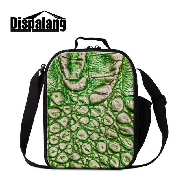 Dispalang Brand Fresh Kids Shoulder Lunch Bags Striped 3D Print Lunch Box Thermal Insulated Food Bag Children School Gift