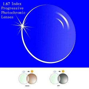 Image 1 - Lentes fotocrómicas graduadas con índice 1,67, lentes focales multifocales de forma gratuita Sin línea para Transit Grey Brwon