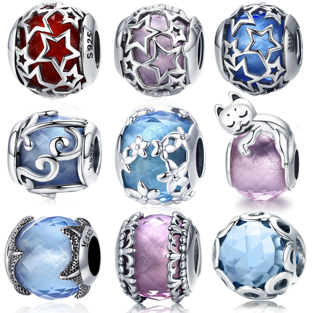 WOSTU Hot Sale 925 Sterling Silver Nature's Radiance Charm Beads Fit Original wst Bracelet Bangle Authentic DIY Jewelry