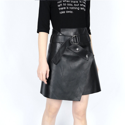 2019 New Fashion Genuine Sheep Leather Skirt E33 in Skirts from Women 39 s Clothing