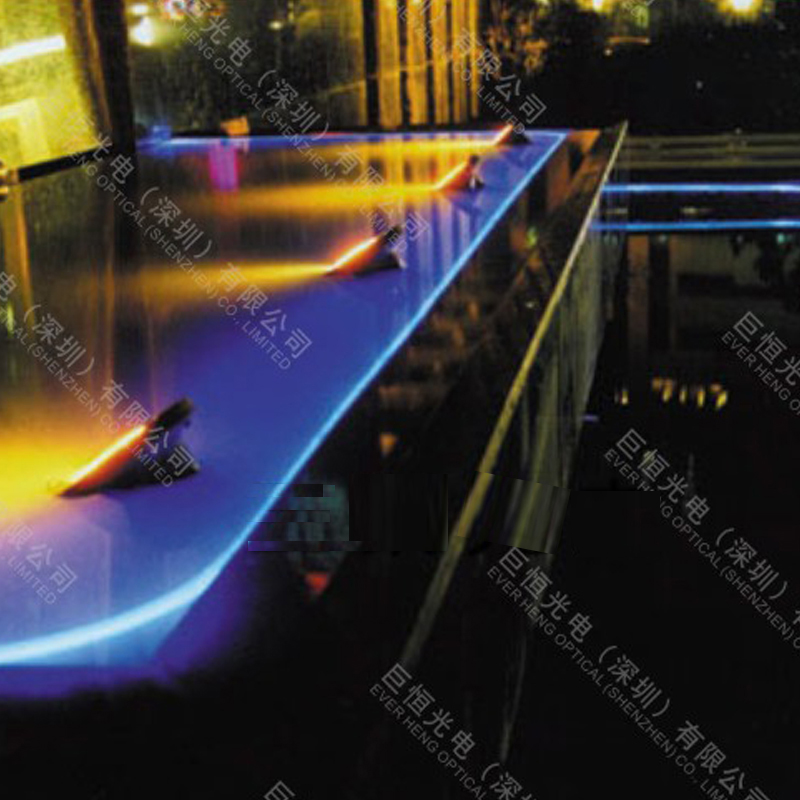 ANTI-UV cover 5.0mm outdoor underground underwater lighting use side glow fiber optic cable