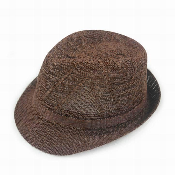 Дышащие полосатые модные соломенные шляпы для защиты от солнца в студенческом стиле; летняя кепка унисекс; крутая кепка; 7 цветов; 1 шт - Цвет: F