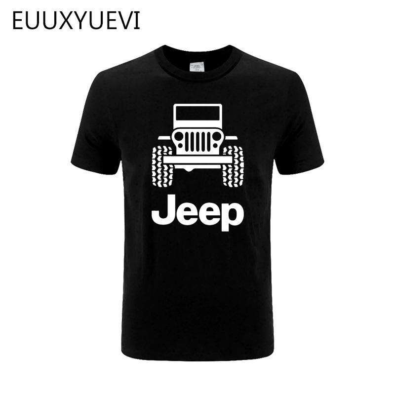Mens T Shirts Jeep Men's Black T-shirt Tee Shirt 2019 New Car Off Road 4x4 Tee Clothing Fashion Gift New From US Wholesale