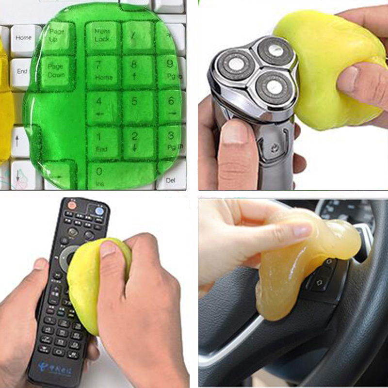 Keyboard Cleaner Computer Cleaning Gel Pc Phone Laptop Magic Keyboard Cleaner Car Super Clean Glue Gel Magic Dust Cleaner image