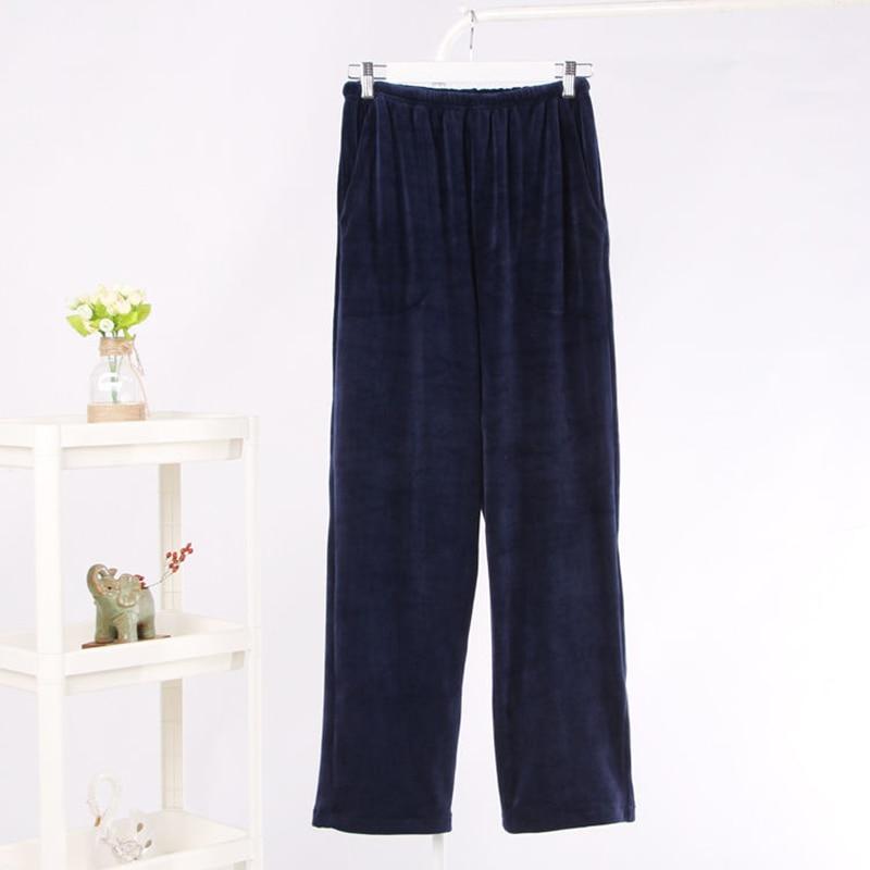 Fleece Pajama Pants Couple Matching Sleep Bottoms Women & Men's Sleeping Pants Superfine Flannel Lounge Pants Warm Sleepwear
