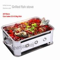 Peixe grelhado Grelhado forno peixe de aço inoxidável fogão a álcool carbono assado do carvão vegetal grelha engrossar hotel comercial forno de peixe