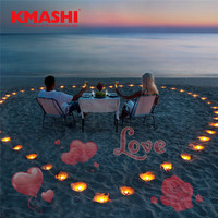 Kmashi 16 Repaceable Slides LED Projector Light Valentines Day Decoration Outdoor Party Garden Light With Germany