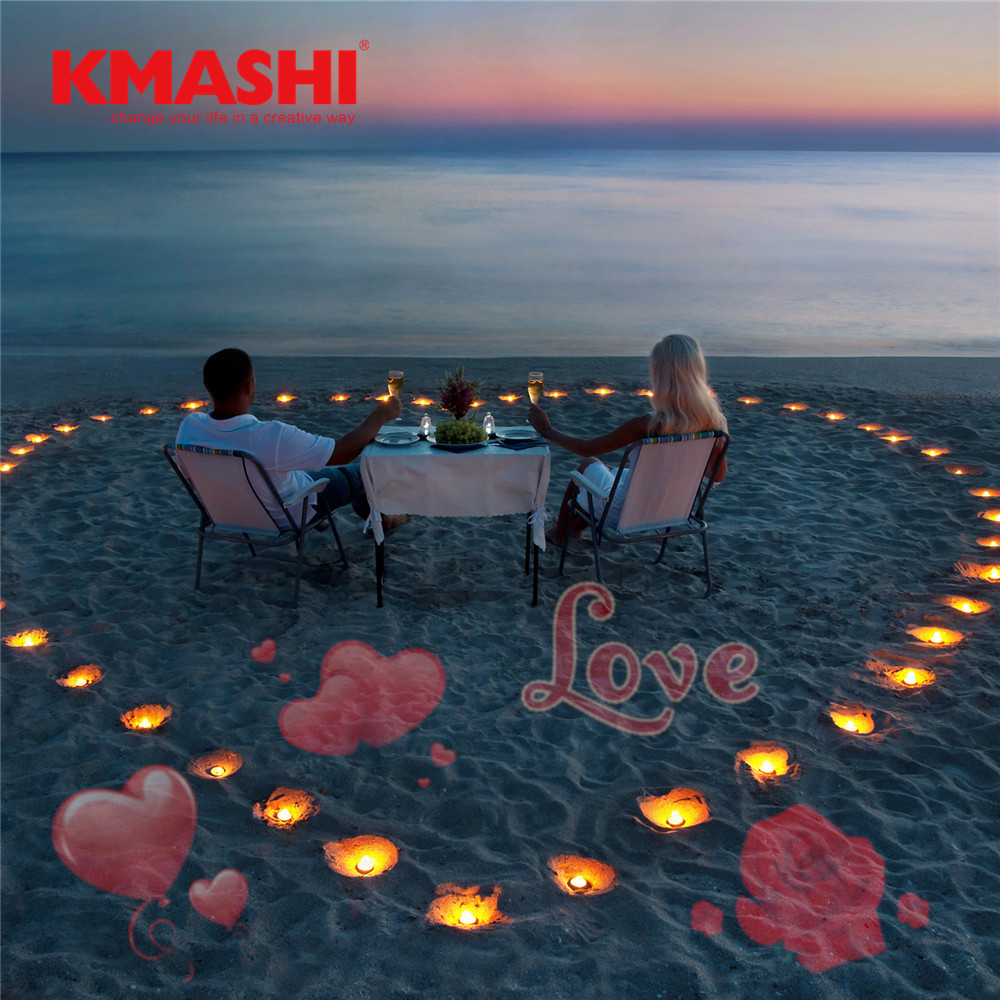Kmashi 16 Repaceable Slides LED Projector Light Valentines Day Decoration Outdoor Party Garden