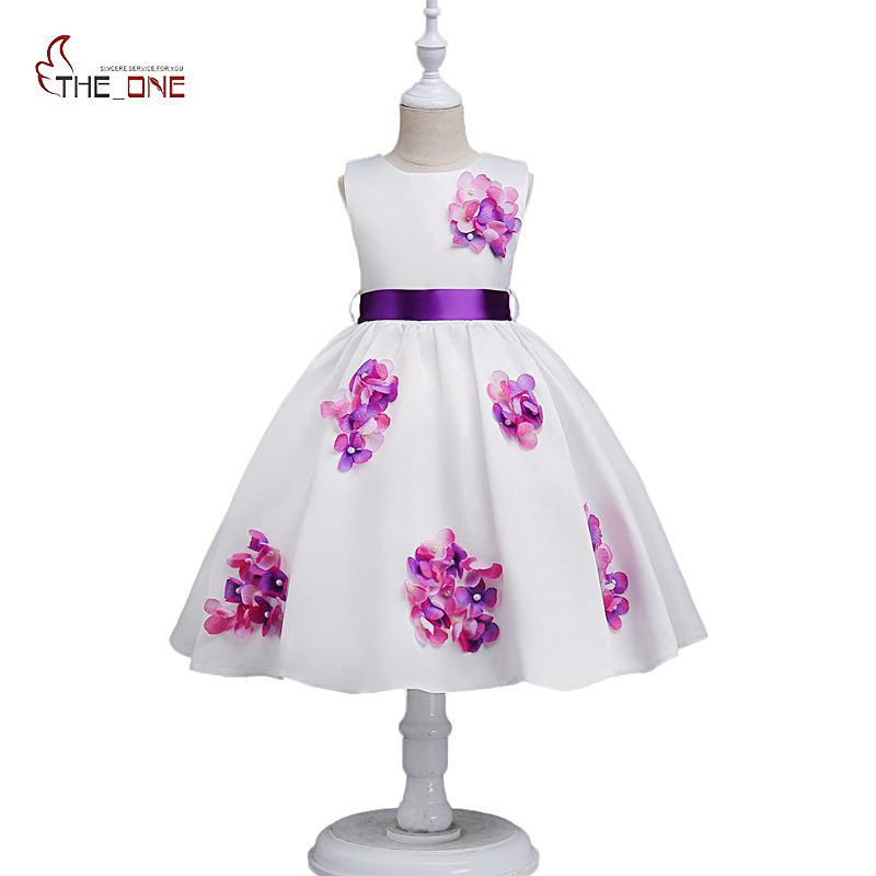 MUABABY Girls Summer Dress Kids Flower Beadings Sleeveless Princess Party Costume Children Girl Pageant Wedding Clothes Sundress casual weaving design card holder handbag hasp wallet for women