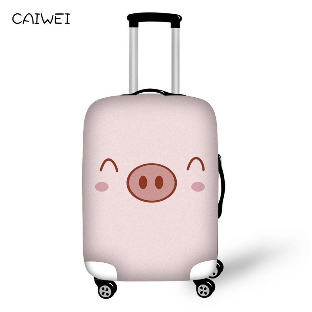 Эластичный ребенок Чемодан Крышка для 18-30 дюймов тележка толстый чемодан защиты чехол с рисунком свинки дорожные аксессуары