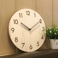 Duvar Saati Large Decorative Wall   Clocks   Horloge Murale   Clock   Room Silence Fashion Simple Solid Wood Large Living Table Quartz