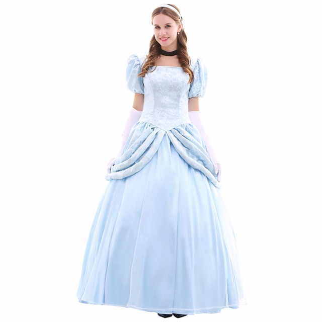 Cosplaydiy Cinderella Dress Costume Wedding Party Cosplay Adult Halloween Custom Made