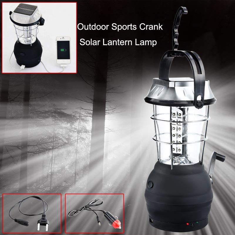 NEW Super Bright 36LED solar camping light rechargeable emergency light household lantern Camping Lantern Tent Lamp