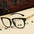 2016 Nueva Moda Marco de Los Vidrios Llanos Para Mujeres de Los Hombres de la Marca Gafas de diseño Retro Gafas de marco con lente transparente Gafas de Grau