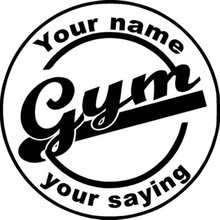Gym Sticker Fitness Decal Bodybuilding Logo Posters Name Vinyl Wall Decals Parede Decor Mural 19 Color