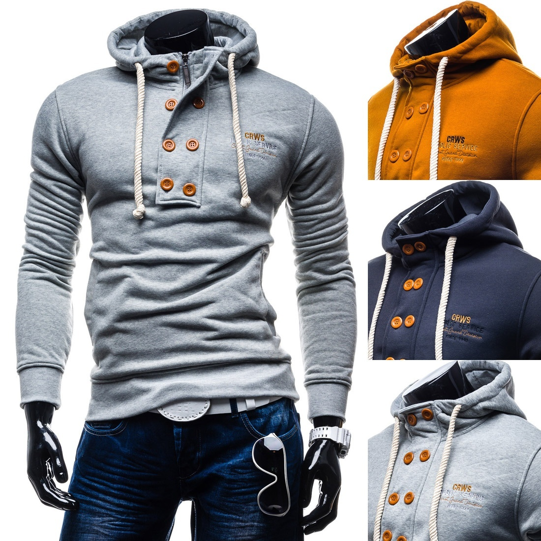 Zogaa Hot Sale 2019New Brand Mens Spring Autumn Hoodies & Sweatshirts Fashion Casual Cotton Solid  Men Size S- XXXL