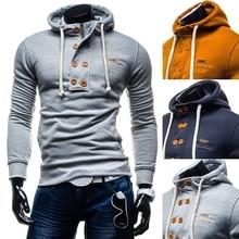 Zogaa Hot Sale 2019New Brand Mens Spring Autumn Hoodies & Sweatshirts Fashion Casual Cotton Solid  Men Size S- XXXL