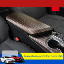 Armrest Box Wood-Grain Accessorries Interior Toyota ABS QHCP for Camry Cover-Plate Protective-Decoration