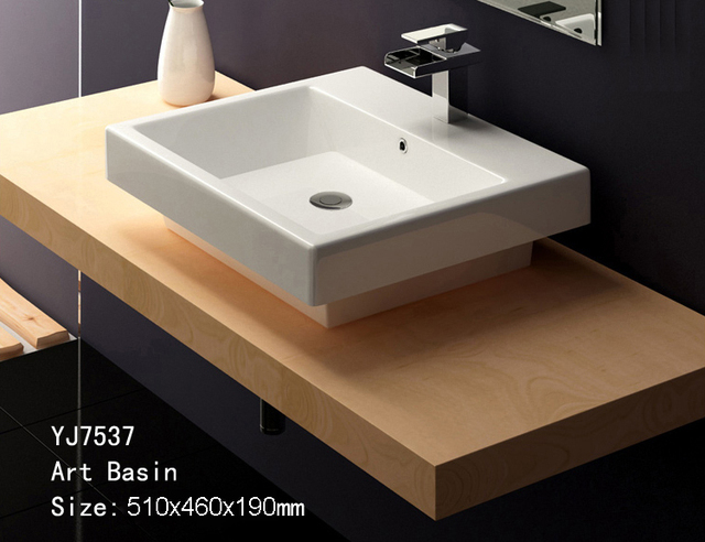 7537 Bathroom Ceramic Counter Top Wash Hand Bowl Sink Basin Lavatory Lavabo