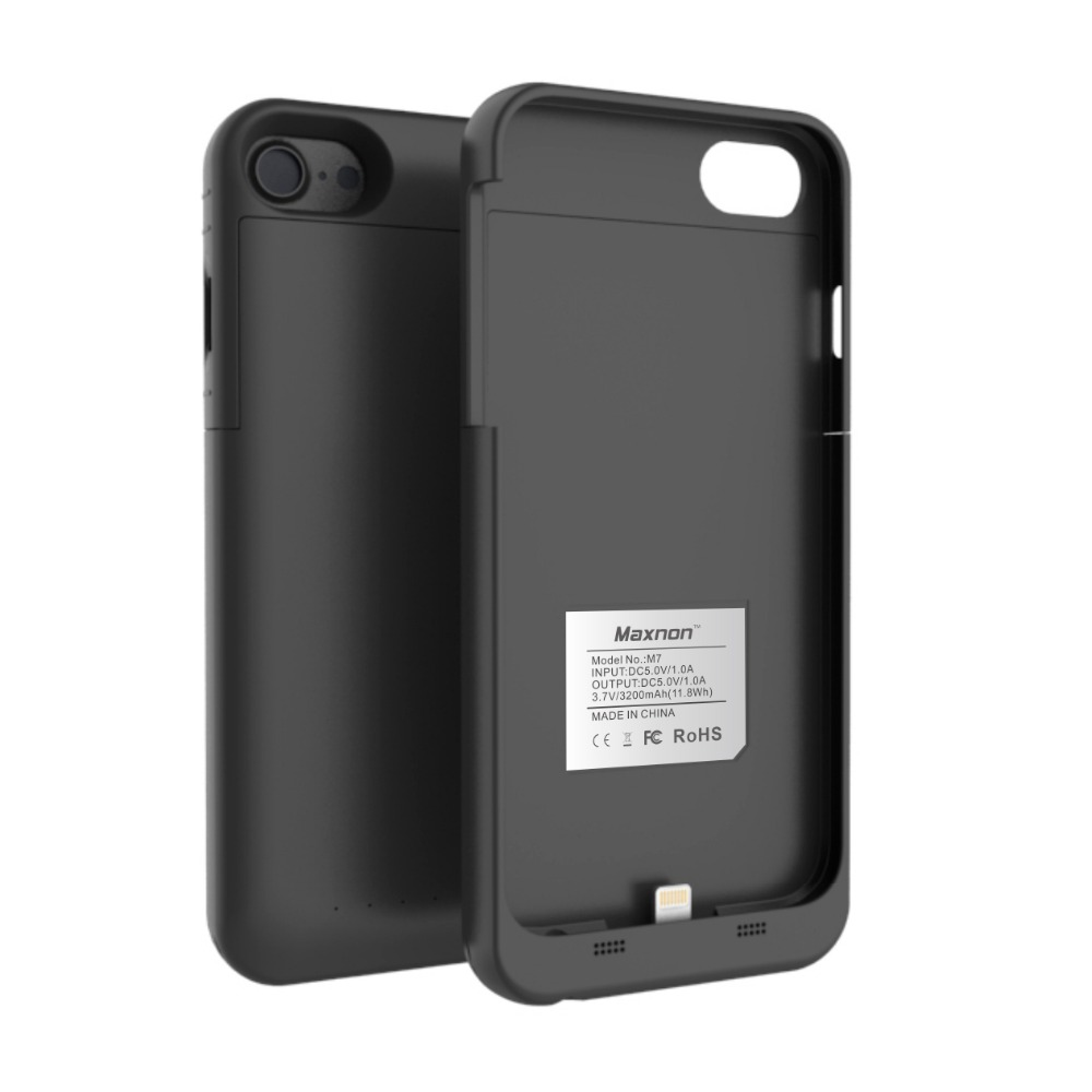 3200mAh/4000mAh Battery Charger Cases For iPhone 7 8/7 Plus External Battery Case Cover Backup Portable PowerBank Rechargeable