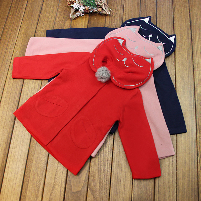 2016 new winter down coat for girls jacket wool coat baby girl wool coat children clothing BC-Q123
