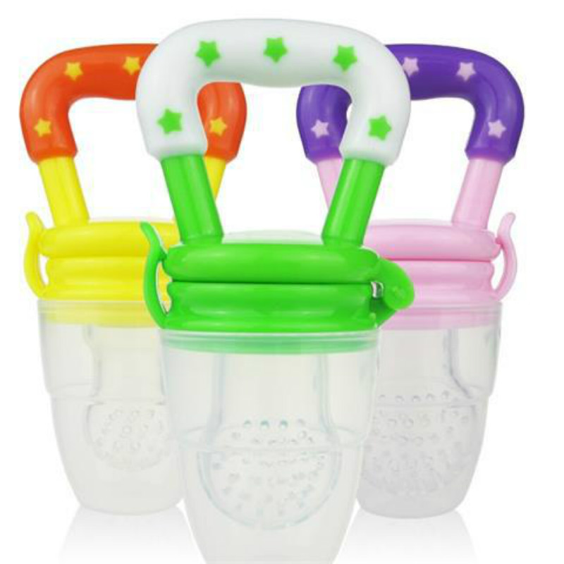 2016 1PCS Baby Teether Infant Fruits And Vegetables Bite Bags Baby Product Of Silicone Bags food supplement training device