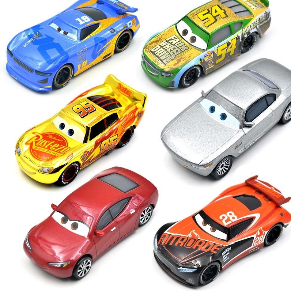 Disney Pixar Cars 3  26 Style Sterling Weathers Jackson Storm Ramirez 1:55 Diecast Metal Alloy Model Car Gift  Toys For Children
