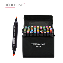 TOUCHFIVE 30/40/60/80/168 Colors Dual Head Art Markers Alcohol Based Sketch Markers Pen For Drawing Animation Art Supplies