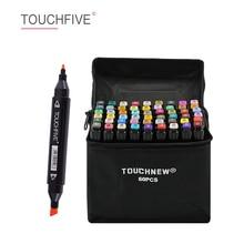 Маркеры TOUCHFIVE, 30/40/60/80/168 цветов, с двойной головкой, на спиртовой основе, скетч маркеры, ручка для рисования, анимационные товары для рукоделия