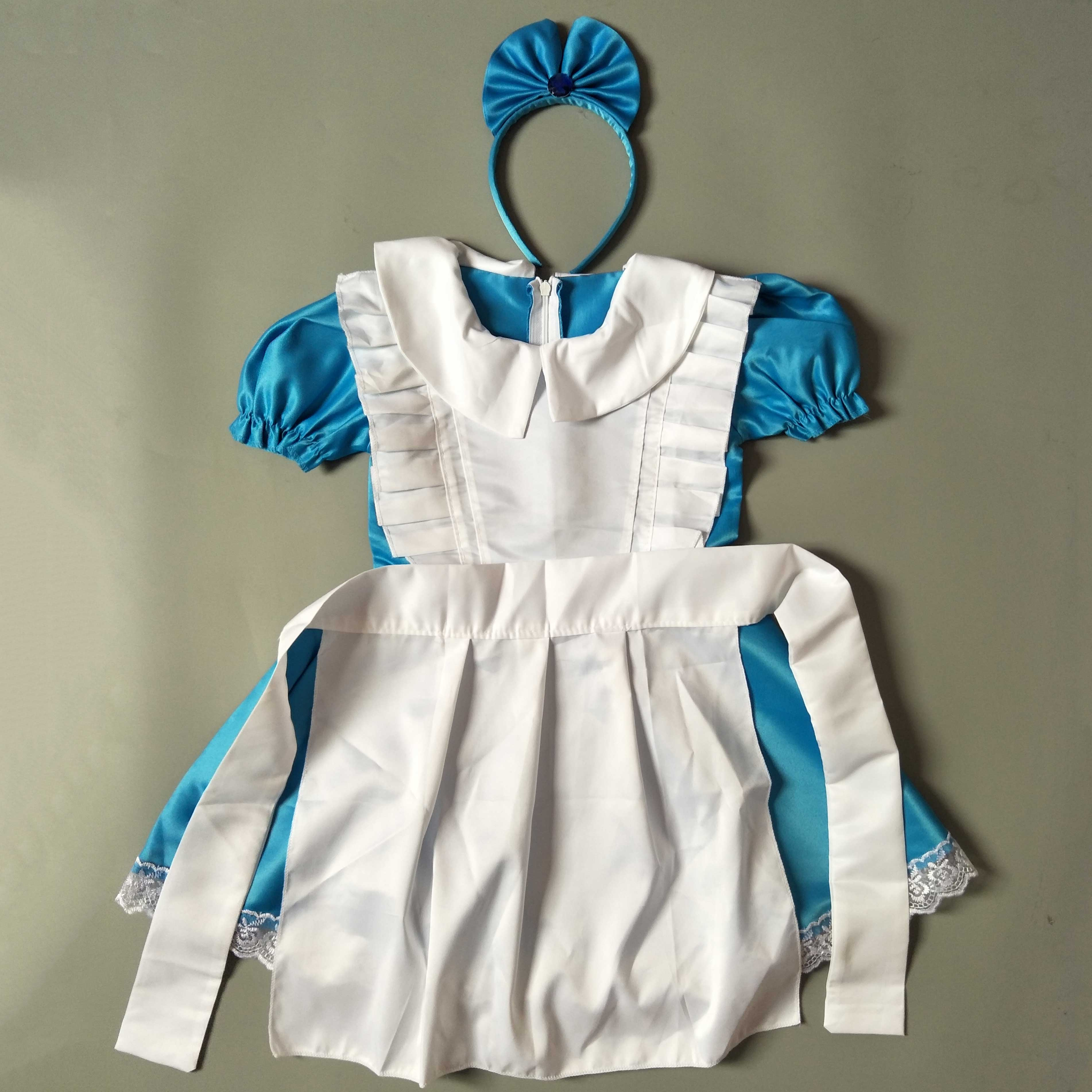 Toddler Halloween Costumes Girl Kids Cartoon Character Alice In Wonderland Baby Girl Party Dress Children Outfits