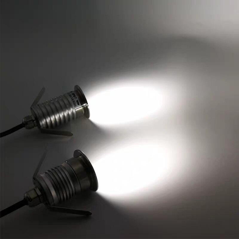 12 V 24 V IP67 1 W 3 W LED Einbau Deck Boden Licht Im Freien Wasserdichte Garten Unterirdischen LED Licht lampe Boden Landschaft Beleuchtung