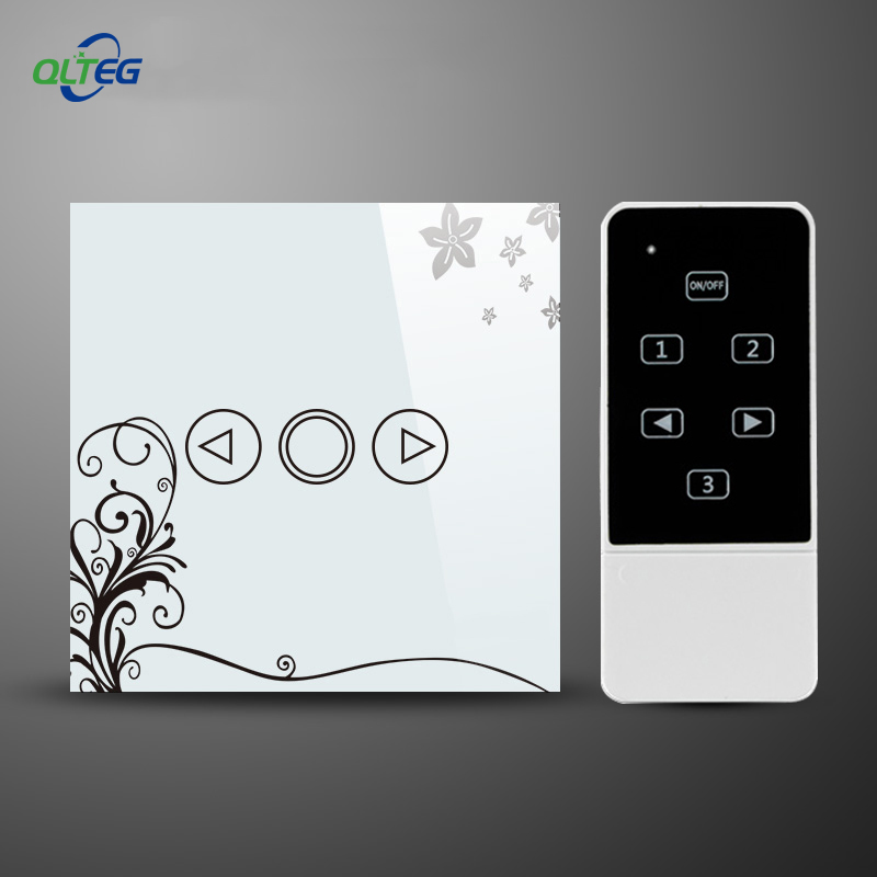 LED Dimmer EU Standard Crystal Touch Glass and Remote Control Light Dimmer Switch Touch Screen Dimmer Switch Smart Switch eu standard dimmer switch luxury crystal glass panel smart switch remote