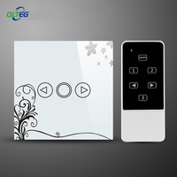 LED Dimmer EU US Standard Crystal Touch Glass And Remote Control Light Dimmer Switch Touch Screen