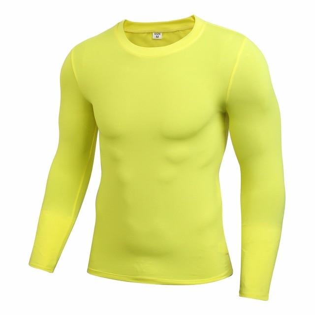 Men s Long Sleeve Dri-fit Compression Shirt Base Layer Male Casual Tops  Shirt Men Tees 6cf03e2ed854