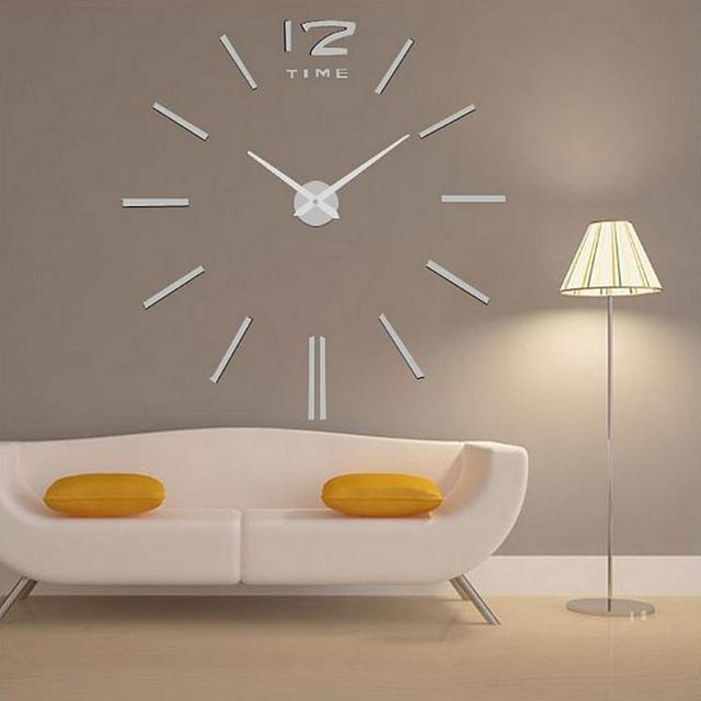 Acrylic DIY 3D Wall Clock Mirror Wall Sticker DIY Living Room Bedroom Decor  Gifts Watches Quartz