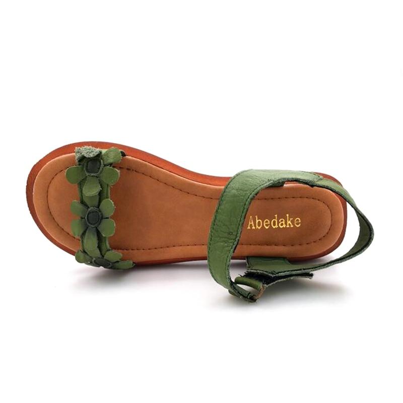 Abedake merk dames sandalen open teen lederen handgemaakte zomer - Damesschoenen - Foto 4