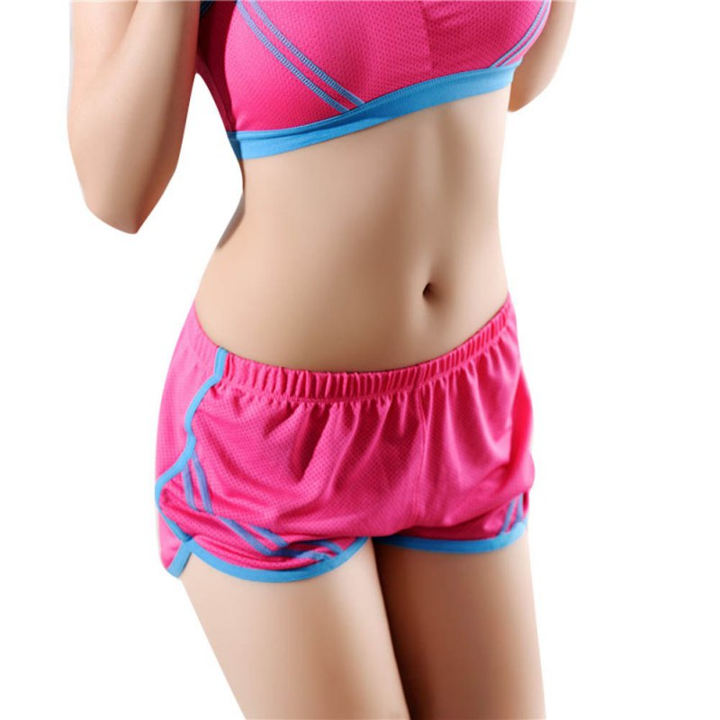 hot sale women sport running shorts ladies fitness solid gym short pants workout elastic sports. Black Bedroom Furniture Sets. Home Design Ideas