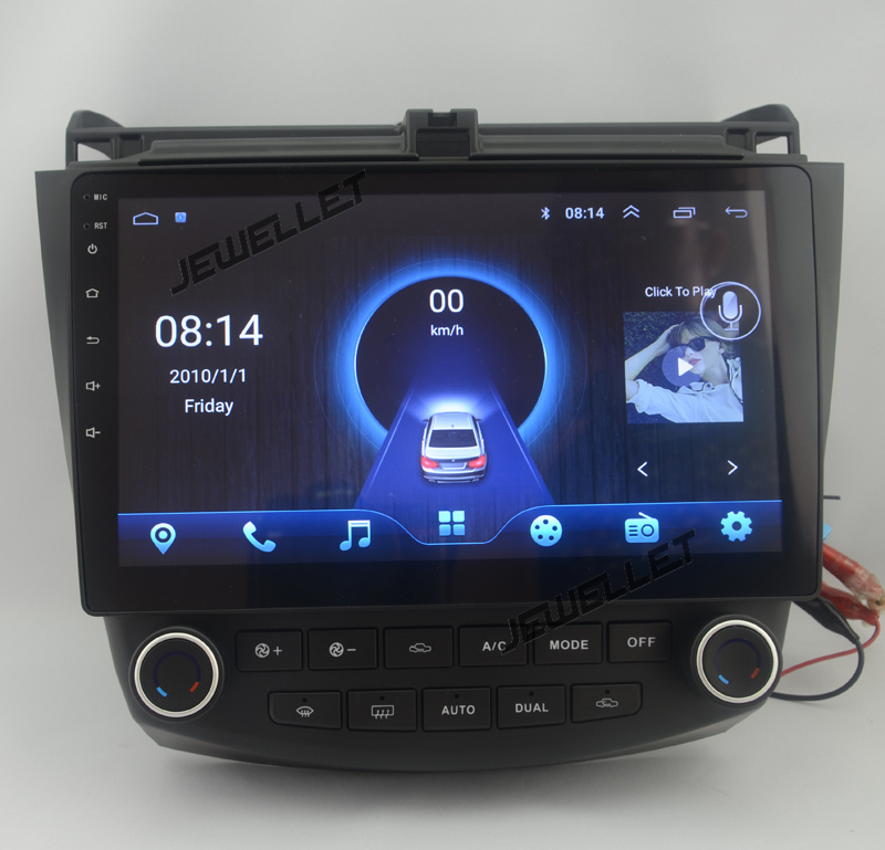 10.1 Quad core 1024*600 HD screen Android 6.0 Car GPS radio Navigation for Honda Accord 2003-2007 with 4G/Wifi DVR OBD 1080P