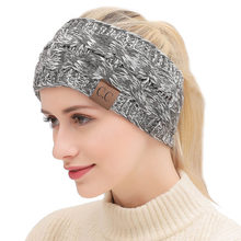 5cab74afd569 2018 Solid Color CC Knitted Crochet Twist Women Headband Winter Ear Warmer  Elastic Hair Band for Women s Wide Hair Accessories