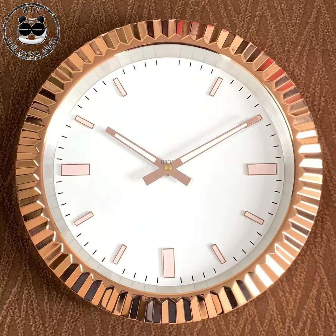 S & F 2019 nouveau Art métal montre horloge murale Design moderne montres forme inoxydable horloges murales décor à la maison pour réunion salon