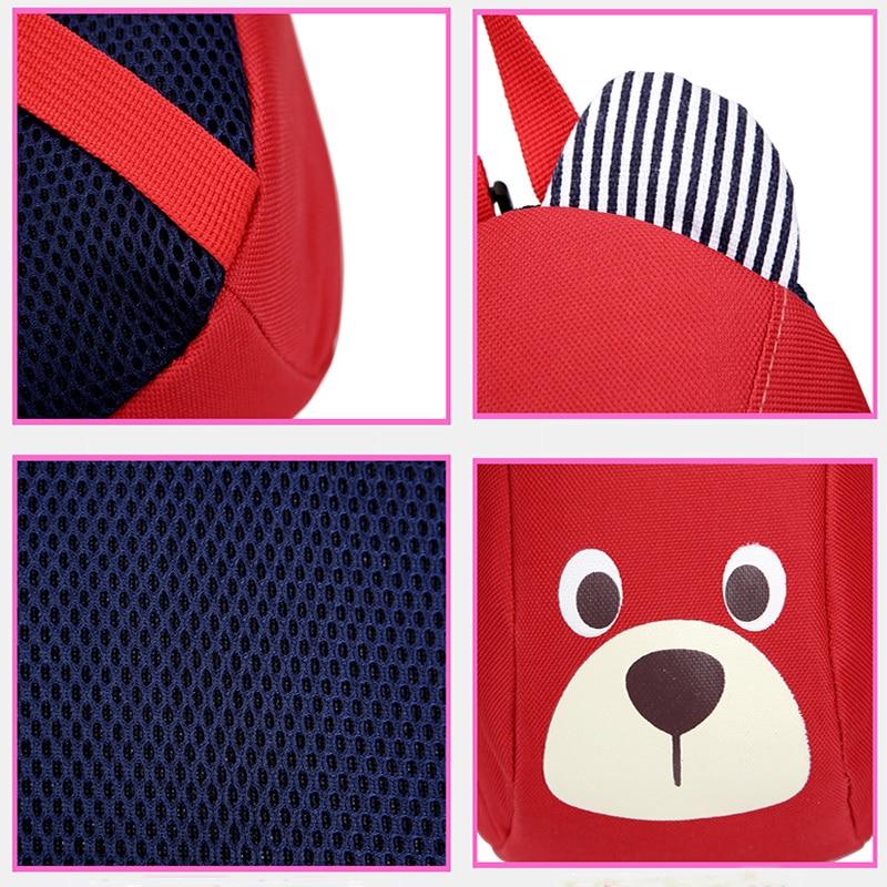 Age 1-3 Toddler Backpack Anti-lost Kids Baby Bag Cute Animal Dog Children Backpack Kindergarten Bear School Bag Mochila Escolar #5