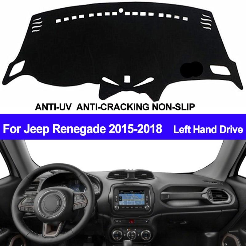 TAIJS Car Dashboard Cover Dash Mat Dash Board Pad Carpet Automobile Dashmat Anti-UV For Jeep Renegade 2015 2016 2017 2018