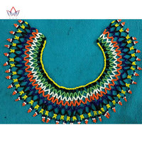 2019 African Bohemia Style Christmas Gifts Rope Chain Statement Necklace Bright South African Beaded Necklace for Women WYB243
