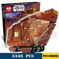 3346 шт. Лепин Star Wars вселенная 05038 Sandcrawler DIY Модель Строительные Блоки Песка гусеничные Игрушки Совместимость с Lego